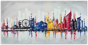 Skyline schilderij Den Haag