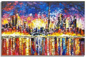 Skyline schilderij Nightfall