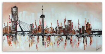 Skyline Rotterdam bruin