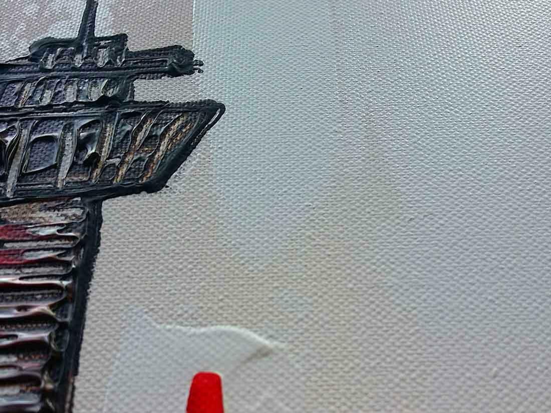 Skyline Rotterdam bruin - Uitvergroting 1/3