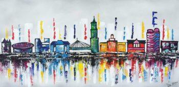 Skyline Utrecht schilderij