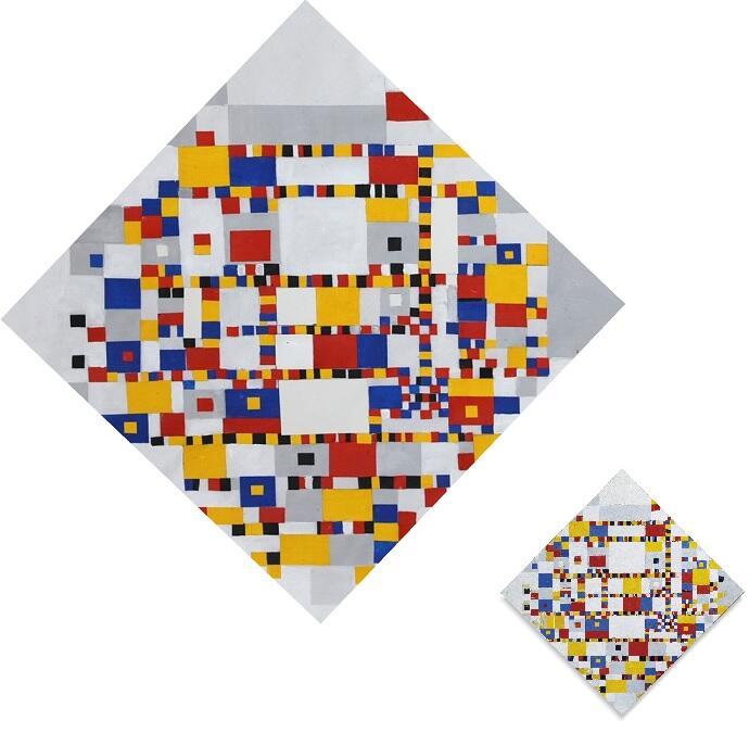 Reproductie laatste schilderij Piet Mondriaan Victory Boogie Woogie