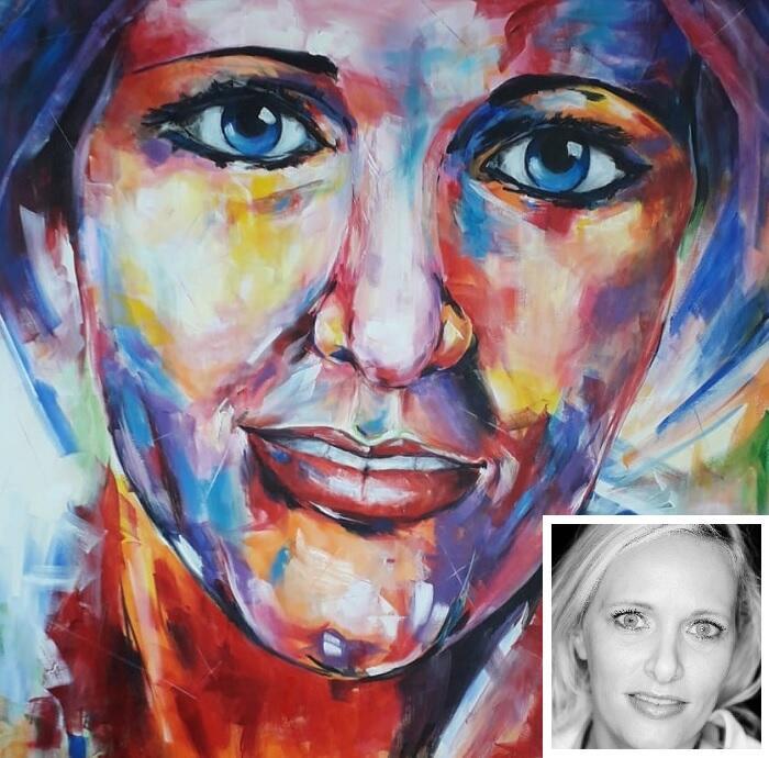 Portret schilderij modern