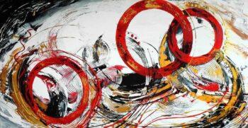 Abstract schilderij New Day 3